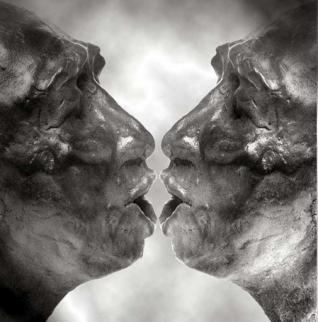 Koorzangers -brons-