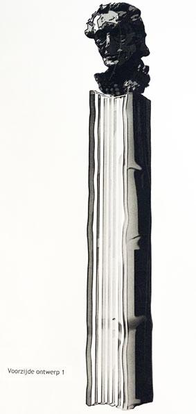 Mulisch-standbeeldontwerp